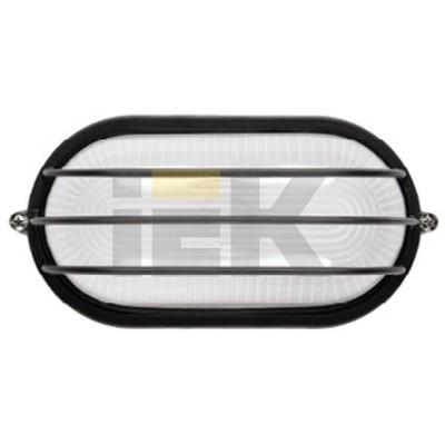 Светильник ИЭК ЖКХ НПП1206, черный, овал сетка, 100Вт IP54