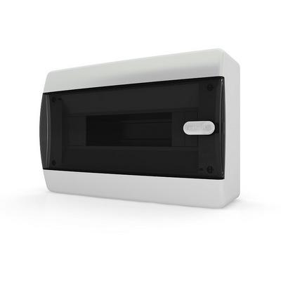 Щит навесной Tekfor 12 модулей IP41, прозрачная черная дверца серии С