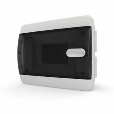 Щит встраиваемый Tekfor 6 модулей IP41, прозрачная черная дверца серии С