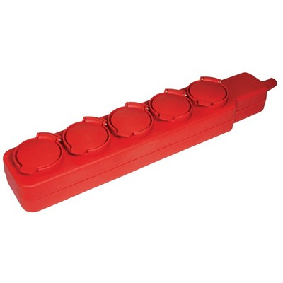 Удлинитель силовой ИЭК У05В 5-розеток, IP44 2Р+PE, 5-метров, 3х1мм2 16А, 250В с защитными крышками