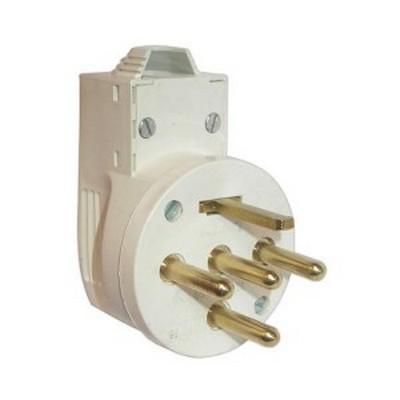 Вилка кабельная Legrand 2К+Н+З 20А, для электроплит, слоновая кость