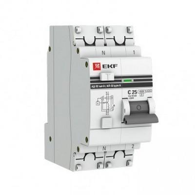 Дифференциальный автомат EKF PROxima АД-32 1P+N 16А 30мА (хар. C, AC, электронный, защита 270В) 4,5кА