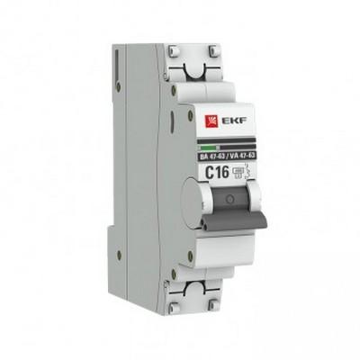 Автоматический выключатель EKF PROxima ВА 47-63, 1-полюсный, 20А, характеристика D, 4,5kA