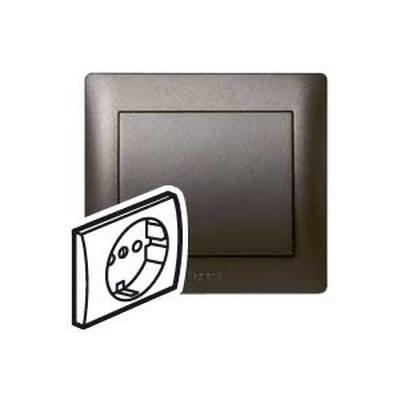 Лицевая панель Legrand Galea Life для розетки 2К+З, Темная бронза