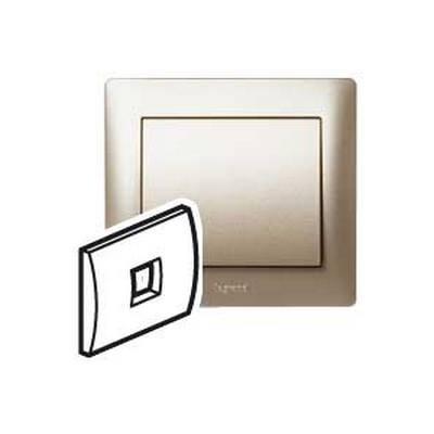 Лицевая панель Legrand Galea Life для телефонной розетки RJ11 и RJ ISDN, Титан