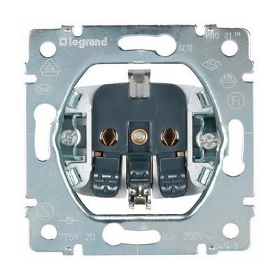 Розетка электрическая Legrand Galea Life, с заземлением, (винтовые клеммы) 16A 250В (без лицевой панели)