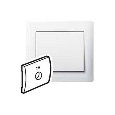Лицевая панель Legrand Galea Life для простой розетки TV, белый