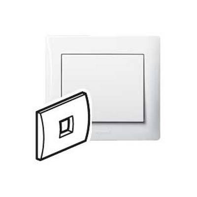 Лицевая панель Legrand Galea Life для телефонной розетки RJ11 и RJ ISDN, белый