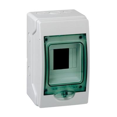 Бокс влагозащищенный Schneider Electric KAEDRA IP65, 4 модуля 200х123х112, с прозрачной дверцей, навесной