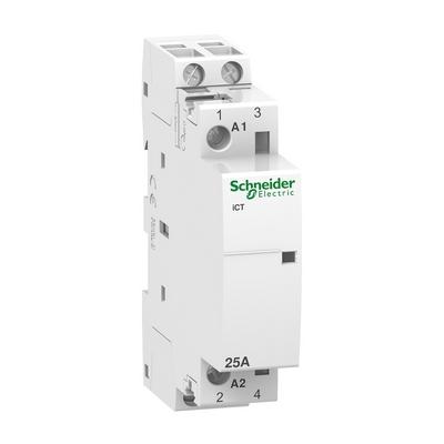 Контактор модульный Schneider Electric Acti 9 iCT, 25 Ампер, 1НО 230/240В АС 50ГЦ