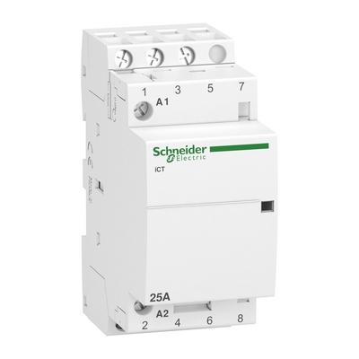 Контактор модульный Schneider Electric Acti 9 iCT, 25 Ампер, 2НО 2НЗ 220/240В АС 50ГЦ