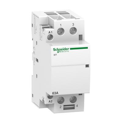 Контактор модульный Schneider Electric Acti 9 iCT, 63 Ампера, 2НО 220/240В АС 50ГЦ