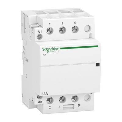 Контактор модульный Schneider Electric Acti 9 iCT, 63 Ампера, 3НО 220/240В АС 50ГЦ