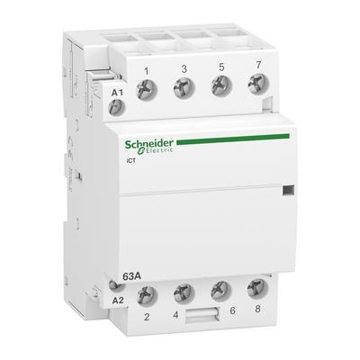 Контактор модульный Schneider Electric Acti 9 iCT, 63 Ампера, 4НО 220/240В АС 50ГЦ