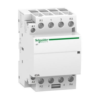 Контактор модульный Schneider Electric Acti 9 iCT, 63 Ампера, 2НО 2НЗ 220/240В АС 50Г