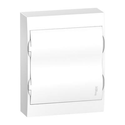 Бокс Schneider Electric Easy9, 24-модулей, навесной с белой дверью, IP40