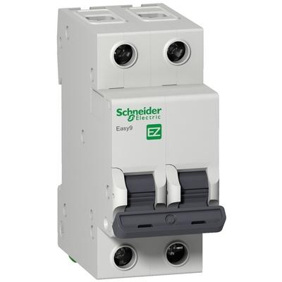 Автоматический выключатель Schneider Electric Easy9, 2-полюса, 16 Ампер, характеристика C, 4,5кА 230В