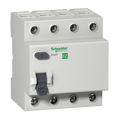 УЗО Schneider Electric Easy9, 4 Полюса, 25 Ампер, 30мА тип AC, 230В