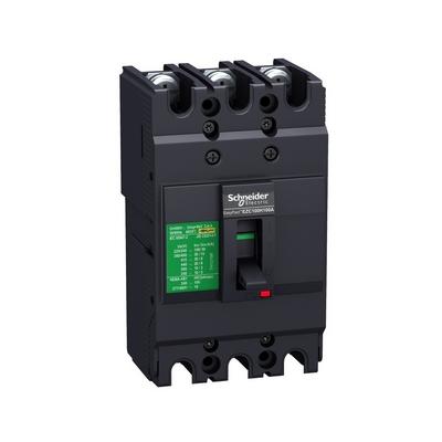 Автоматический выключатель Schneider Electric EZC100, 80 Ампер, 3-полюса, 10KA/400В