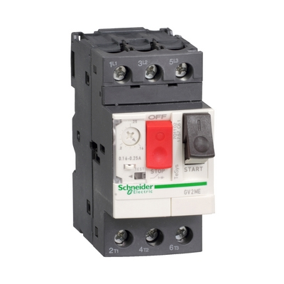 Автоматический выключатель защиты электродвигателя Schneider Electric TeSys GV2ME, 0,25-0,40 Ампер
