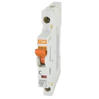 Автоматический выключатель TDM ВА60-26-14 1P 16 Ампер, 4,5кА характеристика С, компакт