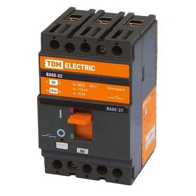 Автоматический выключатель ВА88-32, 3-полюсный, 100 Ампер, 25кА, TDM