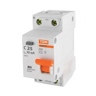 Дифференциальный автомат TDM АВДТ32, 10 Ампер, 30мА 4,5кА
