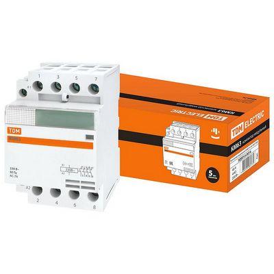 Контактор модульный TDM КМ63, 4 контакта, 40 ампер, 4НО, катушка управления 230В