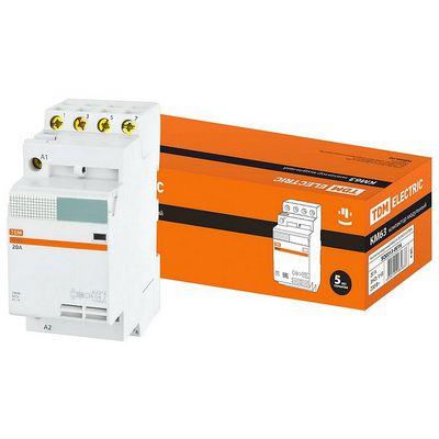 Контактор модульный TDM КМ63, 4 контакта, 20 ампер, 3НО;1НЗ, катушка управления 230В
