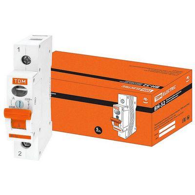 Выключатель нагрузки (модульный рубильник) TDM ВН-32, 1 полюсный, 20 Ампер