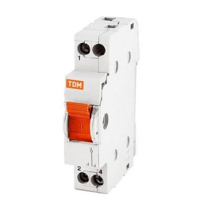 Модульный реверсивный рубильник МП-63, 1 полюсный, 40 Ампер