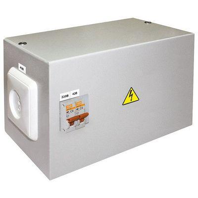 Ящик с трансформатором понижающим TDM ЯТП-0,25 220/42, 2 автомата, IP31