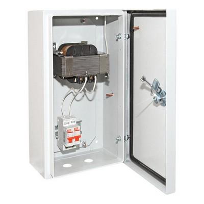 Ящик с трансформатором понижающим TDM ЯТП-0,25 220/12, 2 автомата, IP54