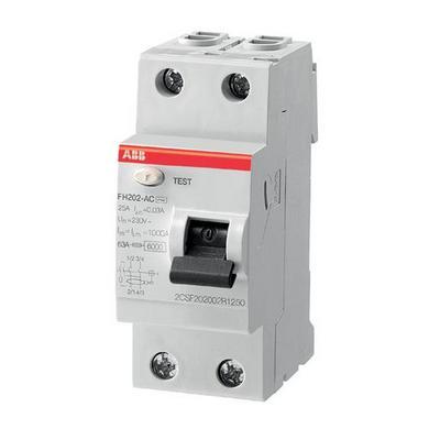 Выключатель дифференциального тока ABB FH202 AC 25/0,03 (25а 30мА)