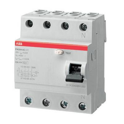 Выключатель дифференциального тока ABB FH204 AC 25/0,03 (25а 30мА)