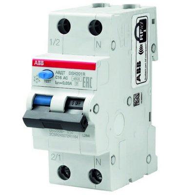 Дифференциальный автомат ABB DSH201R C16 30MA (16 Ампер,30mA) тип АС, АВДТ