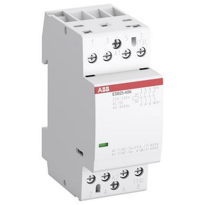 Контактор модульный ABB ESB-25-40N-06 (25А АС-1, 4НО), катушка 230В AC/DC