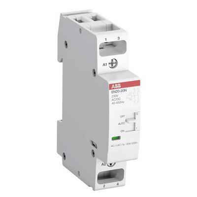 Контактор модульный ABB EN20-20N-06, с ручным управлением (20А АС-1, 2НО), катушка 230В AC/DC