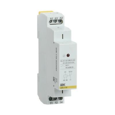 Промежуточное реле ИЭК OIR 1-контакт, 16А, 110В AC/DC