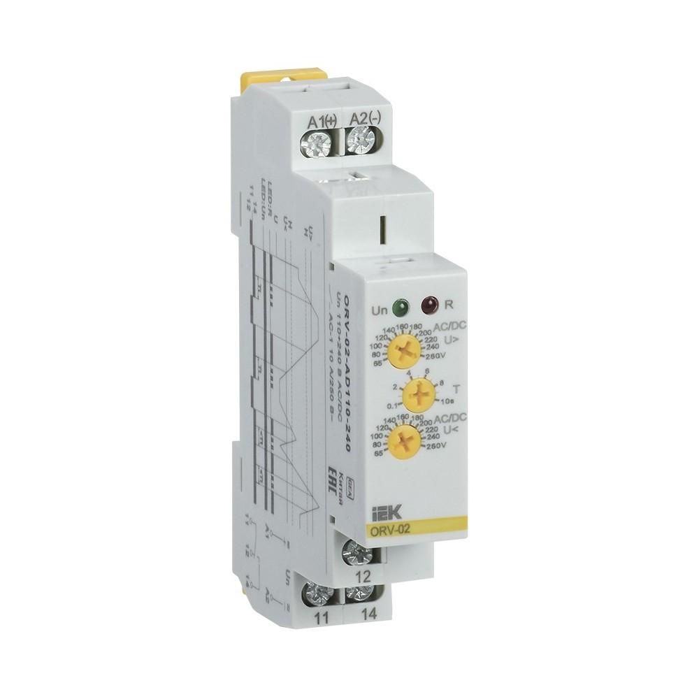 Реле повышения напряжения ИЭК ORV. 1-фазное 12В DC