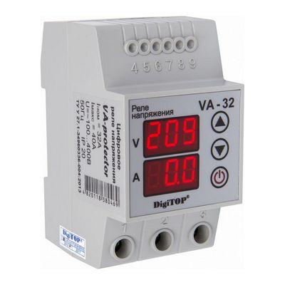Реле контроля напряжения DigiTOP VА-32, 32A, однофазное