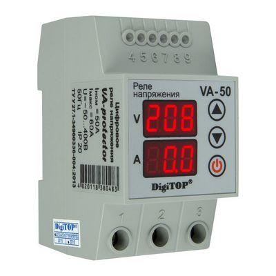 Реле контроля напряжения DigiTOP VА-50, 50A, однофазное