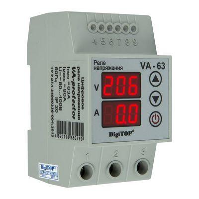 Реле контроля напряжения DigiTOP VА-63, 63A, однофазное