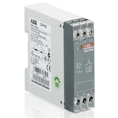 Реле контроля напряжения ABB CM-PVE контроль 1-3 фаз (контроль Umin/max с нейтралью L-N 185..265В AC ) 1НО контакт