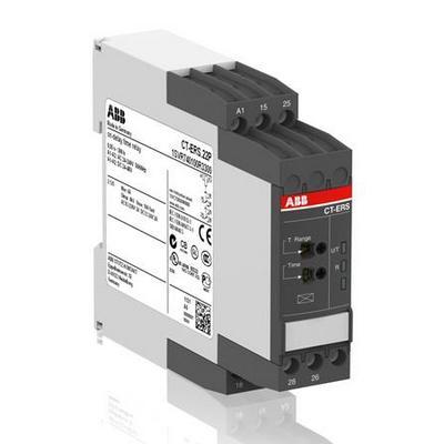 Реле времени ABB CT-ERS.12S задержка на включение 24-240B AC, 24-48B DC, 0.05c..300ч, 1ПК, винтовые клеммы