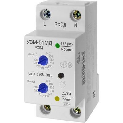 Реле контроля напряжения Меандр УЗМ-50МД УХЛ4, 2 модуля, на Дин-рейку