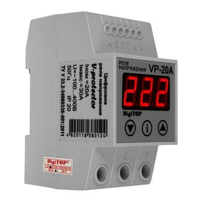 Реле контроля напряжения DigiTOP Vp-20A , однофазное
