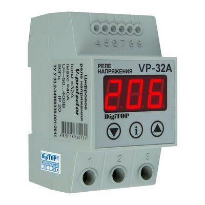 Реле контроля напряжения DigiTOP Vp-32A , однофазное