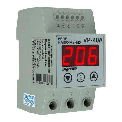 Реле контроля напряжения DigiTOP Vp-40A , однофазное