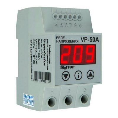Реле контроля напряжения DigiTOP Vp-50A , однофазное